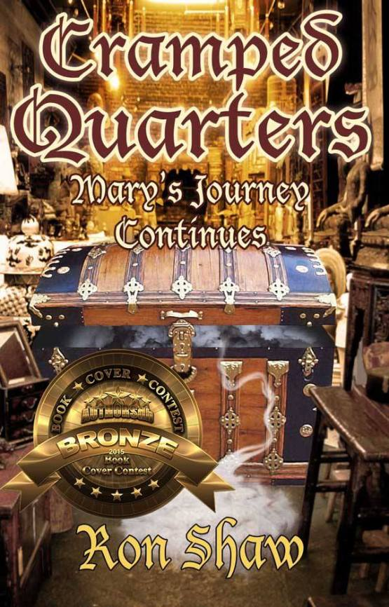 The second in the Cramped Quarters cover series won the bronze award in the Author's Database 2015 Cover Contest.