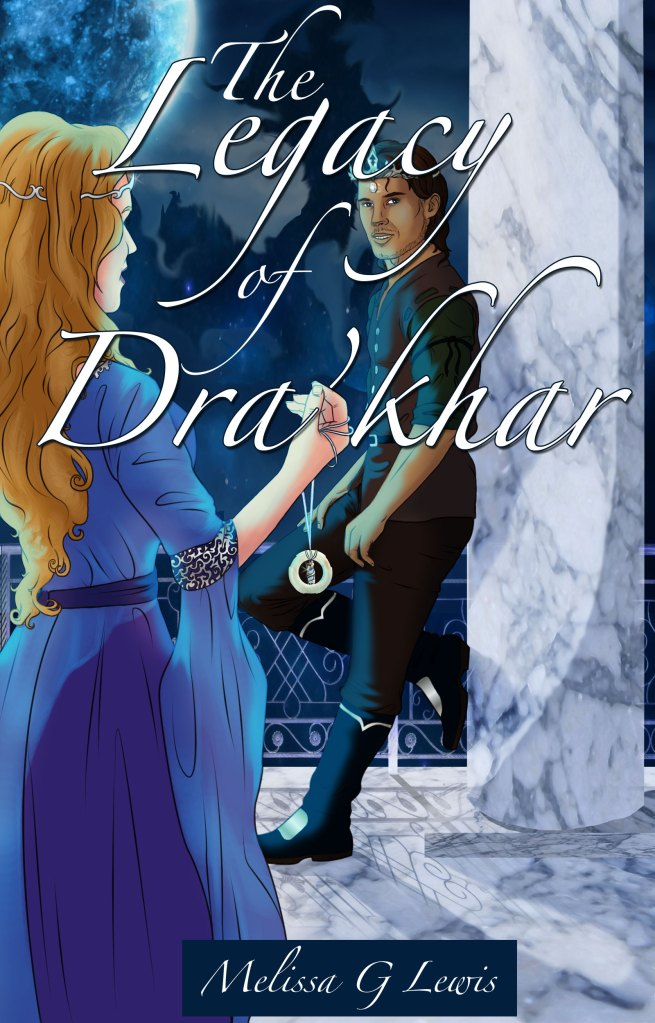 This cover, created for Author Melissa Lewis, was hand painted from the authors description of a scene from the book. The cover ultimately had a different typeface for the title.