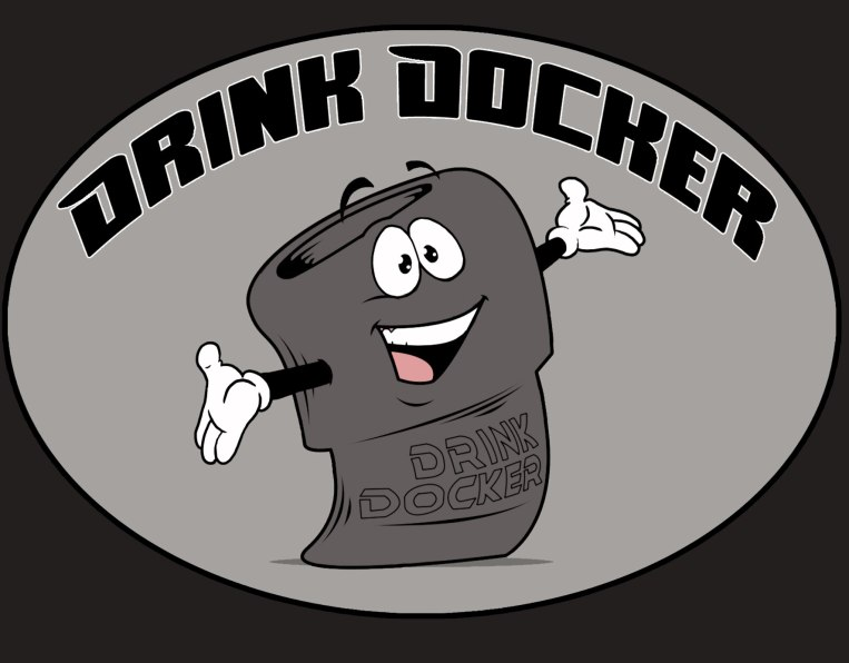 Commissioned by the creator of Drink Docker, for a mascot and a logo.