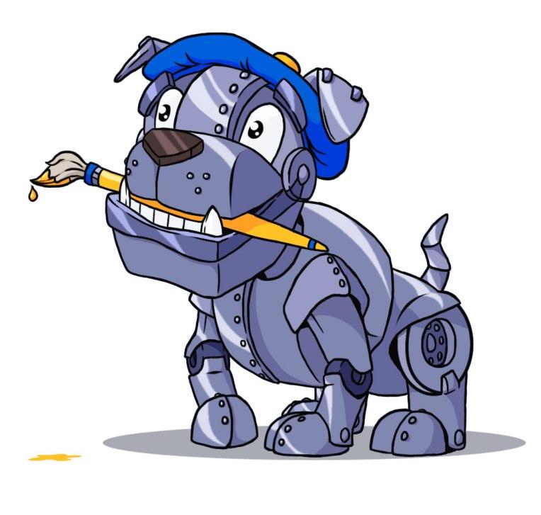A Mascot for a digital art company.
